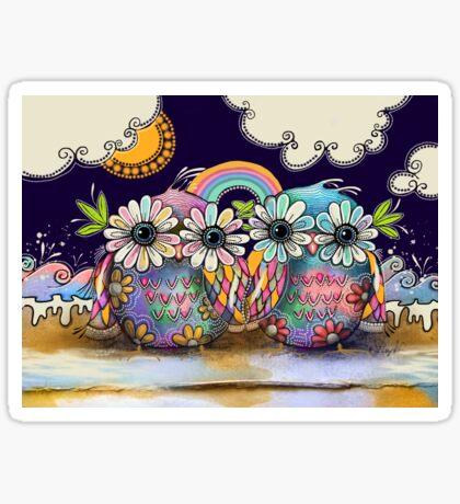 Aloha Owls Sticker