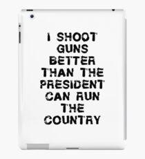 Funny Gun T Shirt iPad Case/Skin