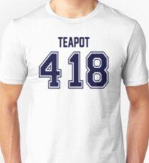 Error 418 - I'm A Teapot - Navy Letters Unisex T-Shirt