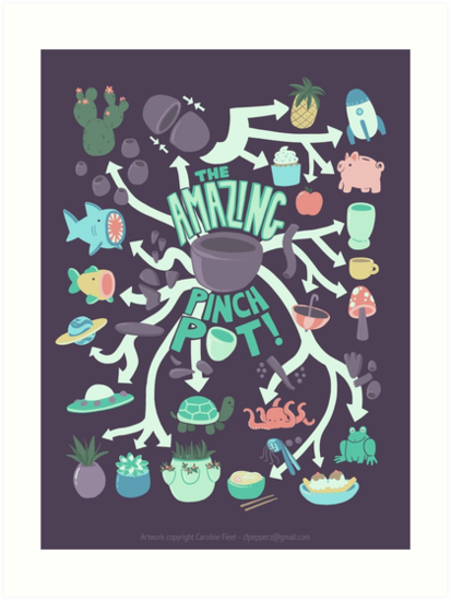 pinch pot infographic art prints by cfpepperz11 redbubble