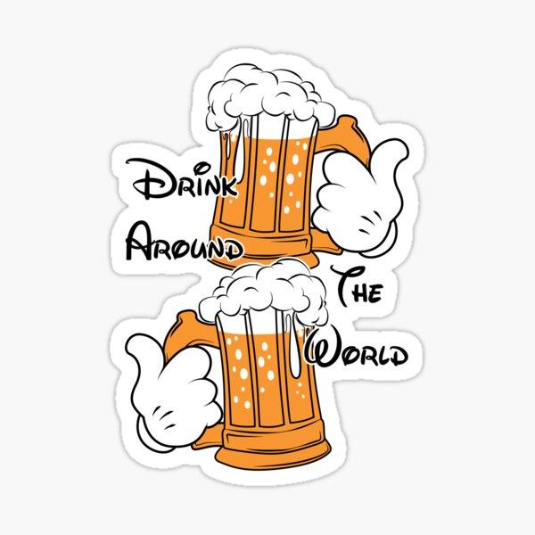Drink around the world Sticker