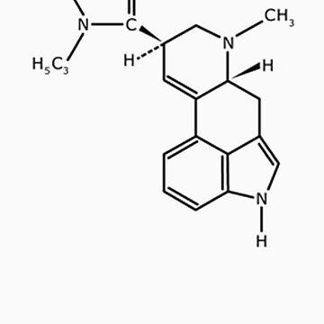 LSD Molecules by Psygarden