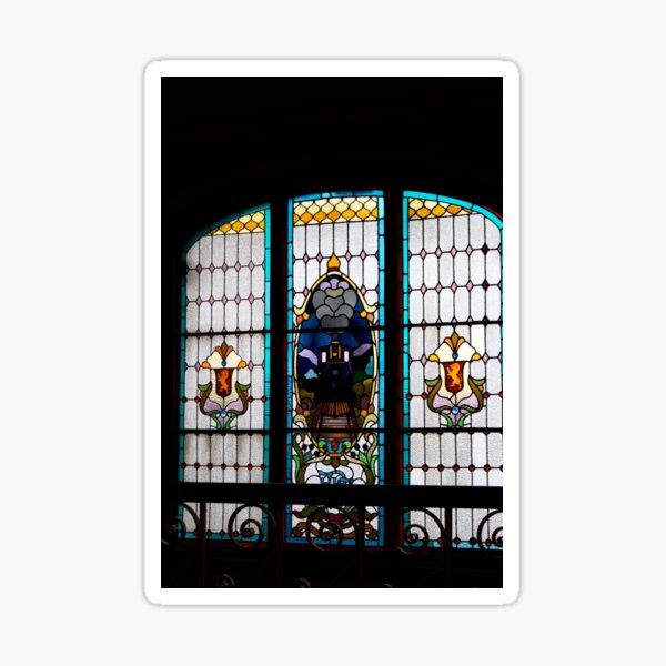 Dunedin Railway Station window, Canterbury, New Zealand Sticker