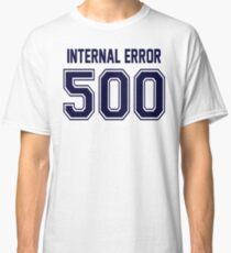 Error 500 - Internal Error - Navy Letters Classic T-Shirt