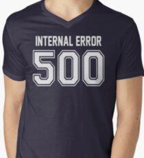 Error 500 - Internal Error - White Letters Men's V-Neck T-Shirt