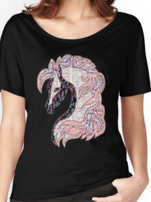 Horse Beutiful Quilt Style Women's Relaxed Fit T-Shirt