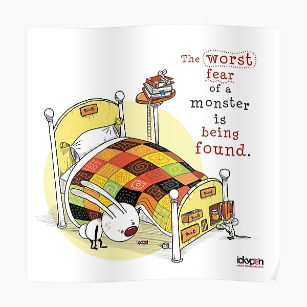 IckyPen - Monsters Under the Bed Poster