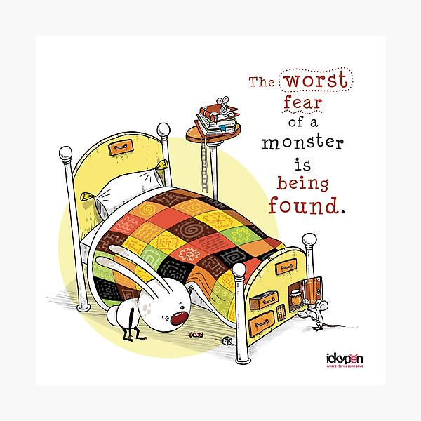 IckyPen - Monsters Under the Bed Photographic Print