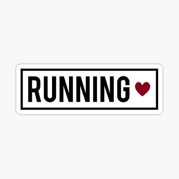 Running ❤ Sticker