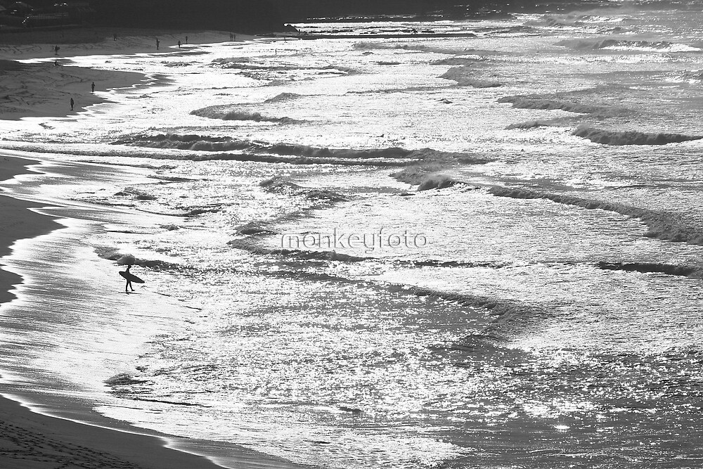 Surfer @ Dixon Beach by monkeyfoto