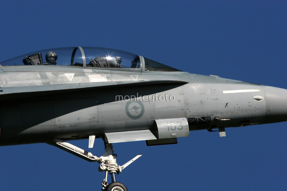 F-18 Hornet Fighter. by monkeyfoto