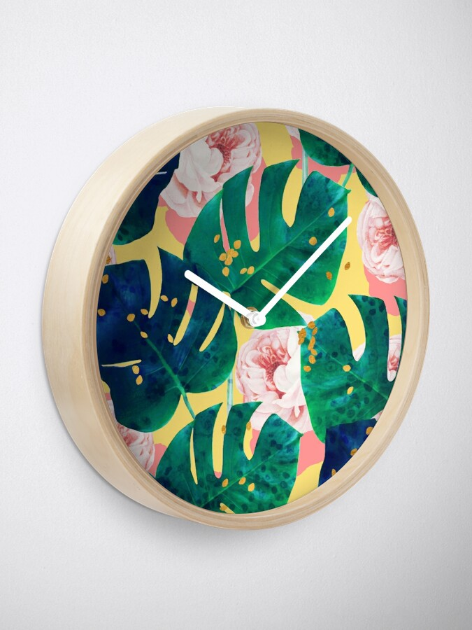 Alternate view of Be Here Now #redbubble #decor #buyart Clock
