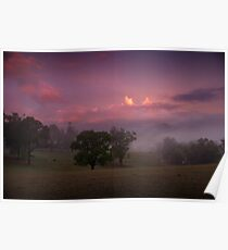 Loungeroom sunset Poster