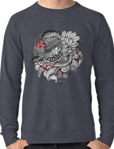 hand drawn fine line black and red fantasy   Lightweight Sweatshirt