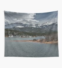 Travel Water Mountain Landscape Snow - Pikes Peak Colorado Wall Tapestry