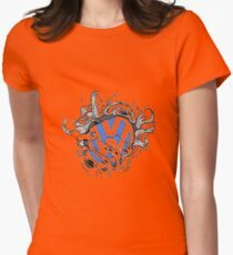 VW Bullet Holes Logo Womens Fitted T-Shirt