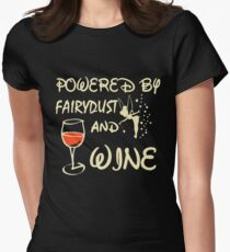 Powered by fairydust and wine T-shirt Womens Fitted T-Shirt