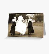 rushing Greeting Card