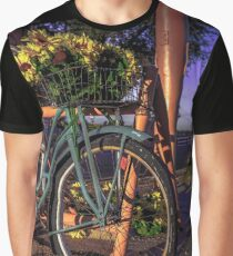 travel bicycle Route 66 Sunflowers - Old Rt 66 Texas USA wall tapestry pillow americana Graphic T-Shirt