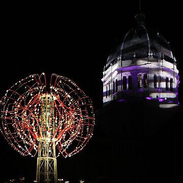 Nebulous Light Sculpture Victorian Tower by janemcdougall