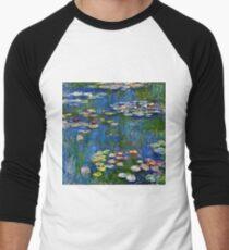 Claude Monet - Water Lilies 1916 Men's Baseball ¾ T-Shirt