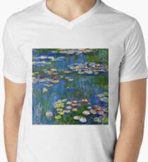 Claude Monet - Water Lilies 1916 Mens V-Neck T-Shirt