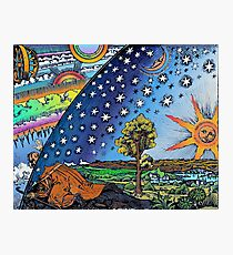 Flammarion Woodcut Flat Earth Design Photographic Print
