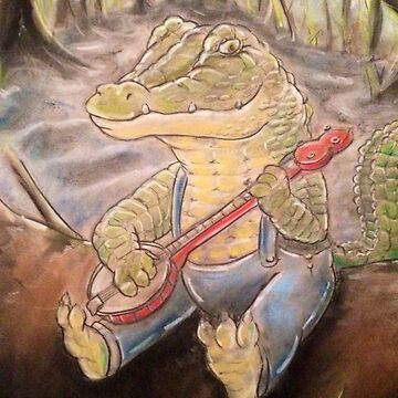 Alligator Playing The Banjo by FlannelDave