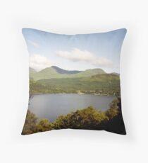 Loch Lomond - beyond the trees Throw Pillow