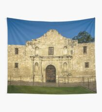 Travel Sky Landscape Blue Wall Tapestry - EMPTY ALAMO - tapestries Wall Tapestry
