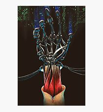 Android Skeletal Hand Photographic Print