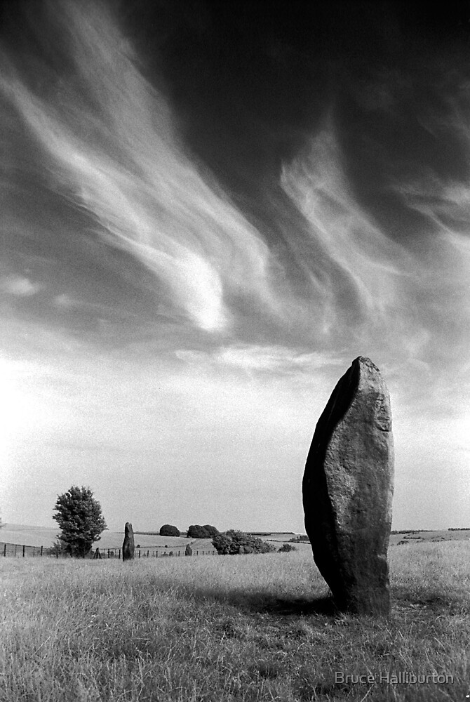 Avebury - The Avenue by Bruce Halliburton