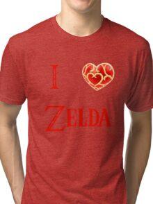 I Love Zelda ( skyword sword ) Tri-blend T-Shirt