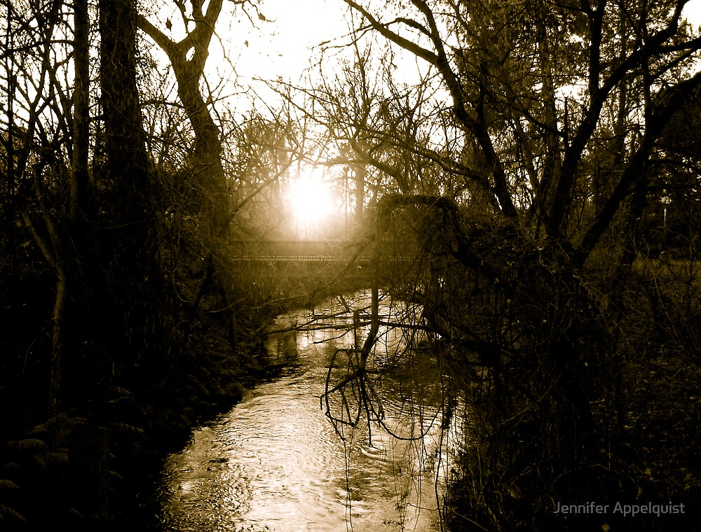 Chico Creek at Sunset by Jennifer Appelquist
