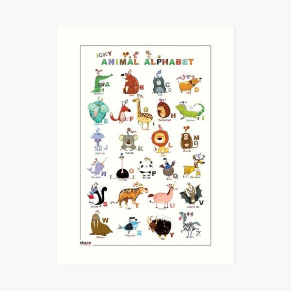 The Icky Animal Alphabet Art Print