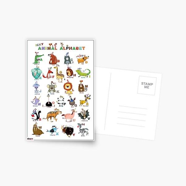 The Icky Animal Alphabet Postcard