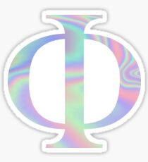 Phi Holographic Greek Sorority Sticker