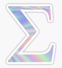 Sigma Holographic Greek Sorority Sticker