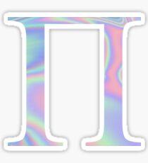 Pi Holographic Greek Sorority Sticker