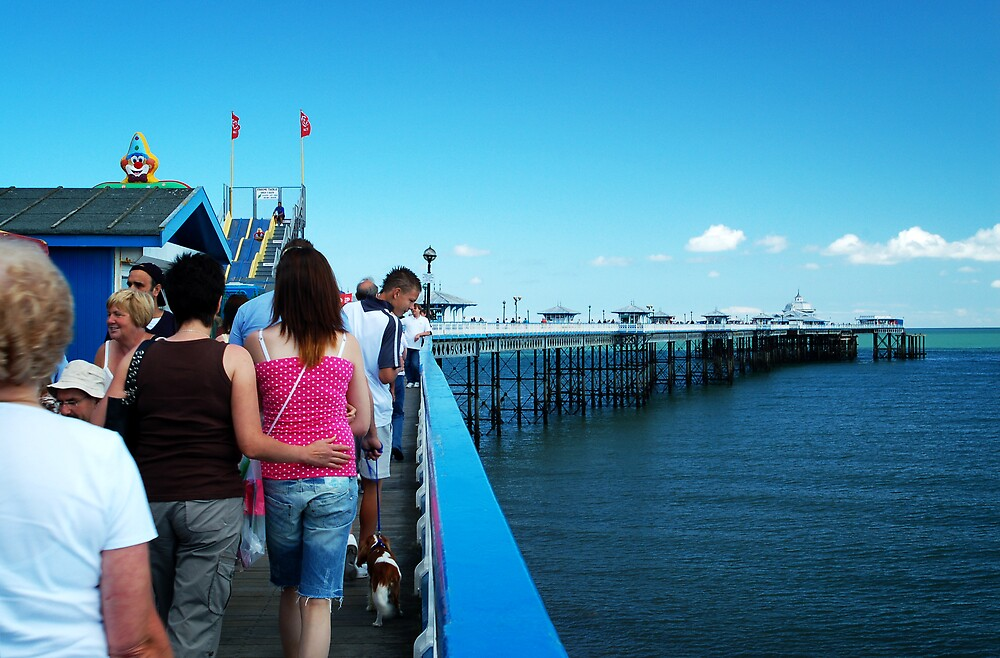 On the Pier by Kate Eling