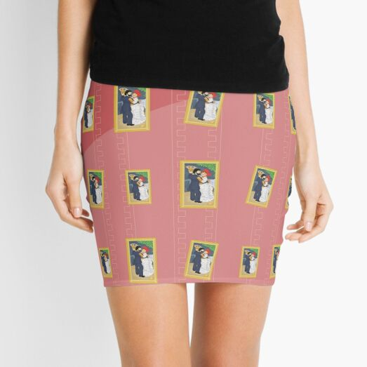 Dance in the country by Renoir Mini Skirt