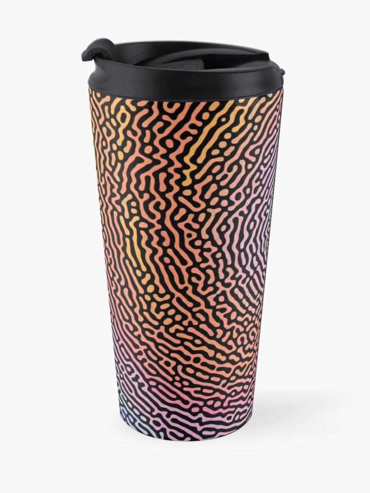 Alternate view of Fingerprint Wave Travel Mug