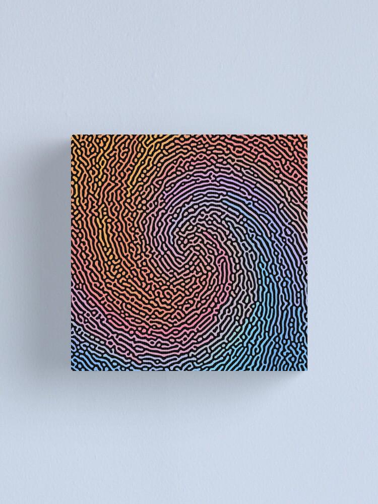 Alternate view of Fingerprint Wave Canvas Print