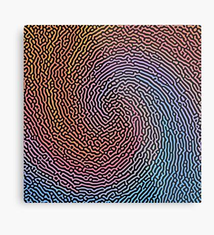 Fingerprint Wave Metal Print