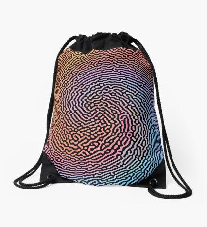 Fingerprint Wave Drawstring Bag