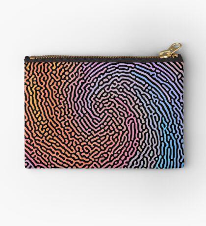 Fingerprint Wave Zipper Pouch