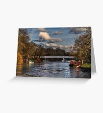 Below The Weir at Pangbourne Greeting Card