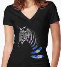 Zebra Women's Fitted V-Neck T-Shirt