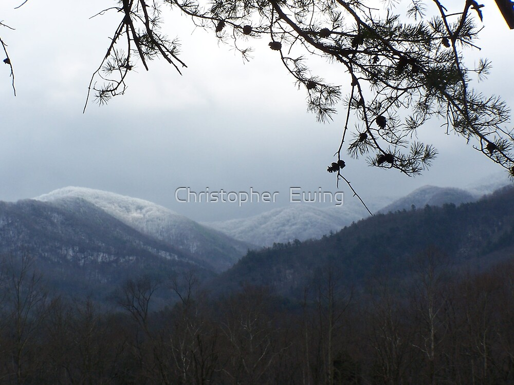snow capped smokys by Christopher  Ewing