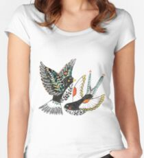 Sparrow & Swallow Women's Fitted Scoop T-Shirt
